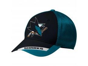 Kšiltovka San Jose Sharks adidas Sublimated Visor Meshback Flex