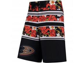 Plavky Anaheim Ducks Floral Stripe Boardshorts