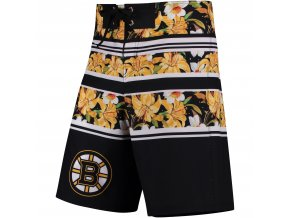 Plavky Boston Bruins Floral Stripe Boardshorts