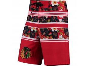 Plavky Chicago Blackhawks Floral Stripe Boardshorts