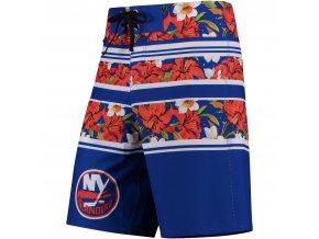 Plavky New York Islanders Floral Stripe Boardshorts