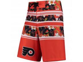 Plavky Philadelphia Flyers Floral Stripe Boardshorts
