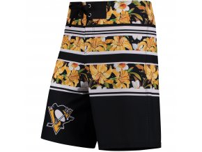 Plavky Pittsburgh Penguins Floral Stripe Boardshorts