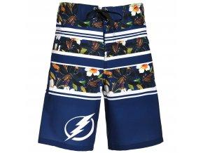 Plavky Tampa Bay Lightning Floral Stripe Boardshorts