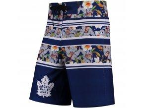 Plavky Toronto Maple Leafs Floral Stripe Boardshorts