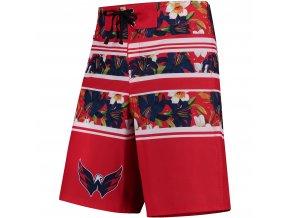 Plavky Washington Capitals Floral Stripe Boardshorts