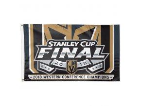 Vlajka Vegas Golden Knights 2018 Western Conference Champions On-Ice Flag