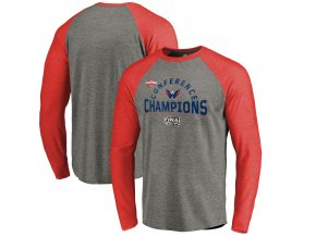 Tričko Washington Capitals 2018 Eastern Conference Champions Boarding Raglan Long Sleeve Tri-Blend