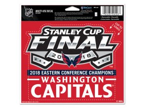 Samolepka Washington Capitals 2018 Eastern Conference Champions 12,5x15 cm