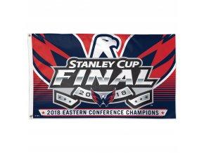 Vlajka Washington Capitals 2018 Eastern Conference Champions On-Ice Flag