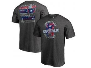 Pánské tričko Washington Capitals 2018 Stanley Cup Champions Goal Line (Velikost XXL)