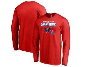 Pánské tričko Washington Capitals 2018 Stanley Cup Champions Stack the Pads dlouhý rukáv (Velikost XXL)