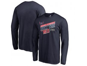 Pánské tričko Washington Capitals 2018 Stanley Cup Champions Hometown Drop Passdlouhý rukáv (Velikost XXL)