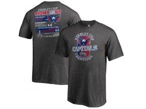 Dětské tričko Washington Capitals 2018 Stanley Cup Champions Goal Line (Velikost Dětské XL (13 - 15 let))