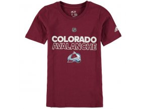 Dětské Tričko Colorado Avalanche Adidas Authentic Ice