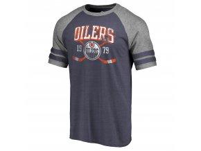 Tričko Edmonton Oilers Line Shift Tri-Blend