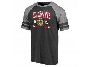 Tričko Chicago Blackhawks Line Shift Tri-Blend