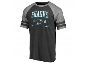 Tričko San Jose Sharks Line Shift Tri-Blend