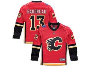 Dětský Dres #13 Johnny Gaudreau Calgary Flames Replica Home Jersey