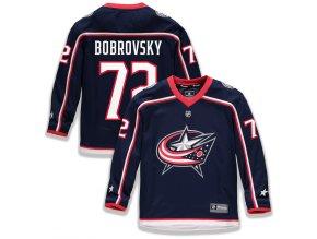 Dětský Dres #72 Sergei Bobrovsky Columbus Blue Jackets Replica Home Jersey