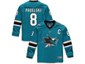 Dětský Dres #8 Joe Pavelski San Jose Sharks Replica Home Jersey