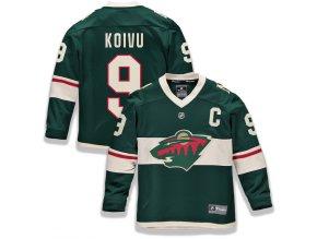 Dětský Dres #9 Mikko Koivu Minnesota Wild Replica Home Jersey