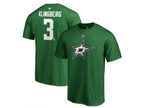Tričko #3 John Klingberg Dallas Stars Stack Logo Name & Number