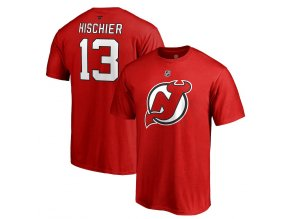 Tričko #13 Nico Hischier New Jersey Devils Stack Logo Name & Number