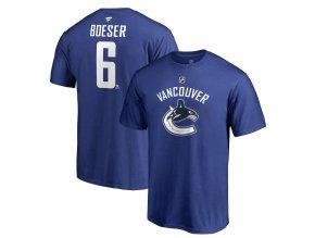 Tričko #6 Brock Boeser Vancouver Canucks Stack Logo Name & Number