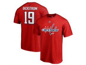 Tričko #19 Nicklas Backstrom Washington Capitals Stack Logo Name & Number