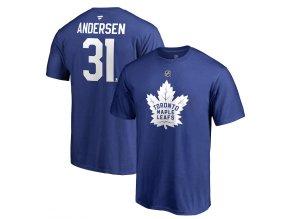 Tričko #31 Frederik Andersen Toronto Maple Leafs Stack Logo Name & Number