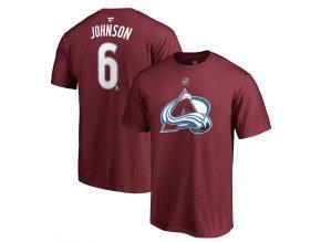 Tričko #6 Erik Johnson Colorado Avalanche Stack Logo Name & Number