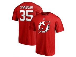 Tričko #35 Cory Schneider New Jersey Devils Stack Logo Name & Number