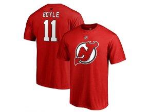 Tričko #11 Brian Boyle New Jersey Devils Stack Logo Name & Number