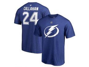 Tričko #24 Ryan Callahan Tampa Bay Lightning Stack Logo Name & Number