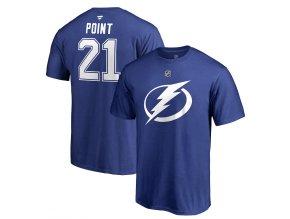 Tričko #21 Brayden Point Tampa Bay Lightning Stack Logo Name & Number