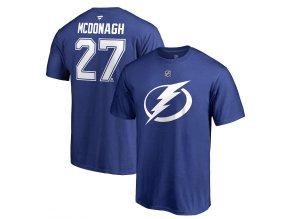 Tričko #27 Ryan McDonagh Tampa Bay Lightning Stack Logo Name & Number