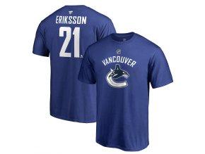 Tričko #21 Loui Eriksson Vancouver Canucks Stack Logo Name & Number