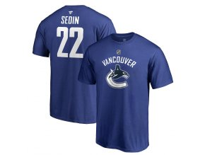 Tričko #22 Daniel Sedin Vancouver Canucks Stack Logo Name & Number