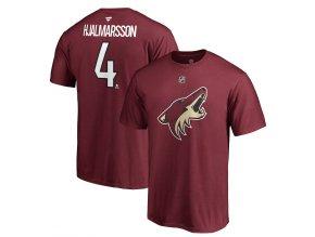 Tričko #4 Niklas Hjalmarsson Arizona Coyotes Stack Logo Name & Number