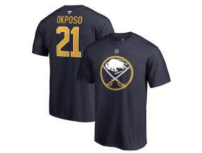 Tričko #21 Kyle Okposo Buffalo Sabres Stack Logo Name & Number