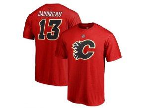 Tričko #13 Johnny Gaudreau Calgary Flames Stack Logo Name & Number