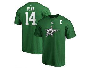 Tričko #14 Jamie Benn Dallas Stars Stack Logo Name & Number