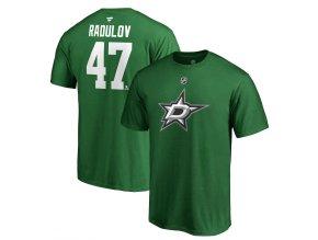 Tričko #47 Alexander Radulov Dallas Stars Stack Logo Name & Number