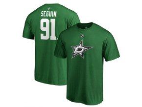 Tričko #91 Tyler Seguin Dallas Stars Stack Logo Name & Number