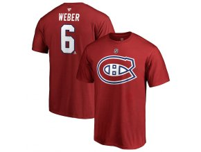 Tričko #6 Shea Weber Montreal Canadiens Stack Logo Name & Number