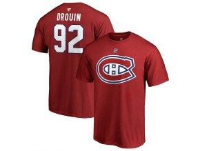 Tričko #92 Jonathan Drouin Montreal Canadiens Stack Logo Name & Number