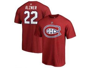 Tričko #22 Karl Alzner Montreal Canadiens Stack Logo Name & Number