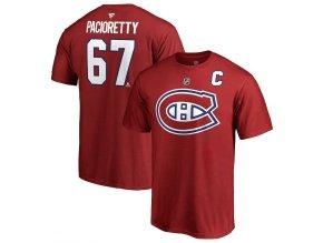 Tričko #67 Max Pacioretty Montreal Canadiens Stack Logo Name & Number