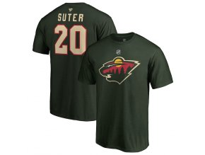 Tričko #20 Ryan Suter Minnesota Wild Stack Logo Name & Number
